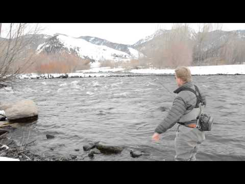 Winter Midge Fishing On The Madison River With Kelly Galloup video