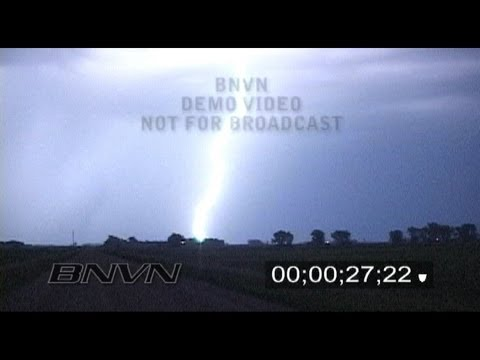 6/26/2009 Intense Overnight Lightning Footage