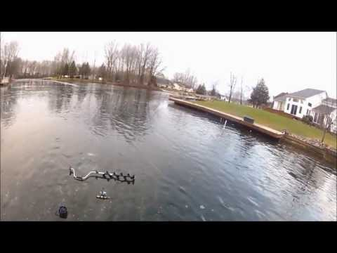 Sight fishing slab crappies through the ice -2013