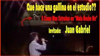 """5 cosas extrañas en """"mala noche, no"""", cuando Juan Gabriel fue invitado!!"""