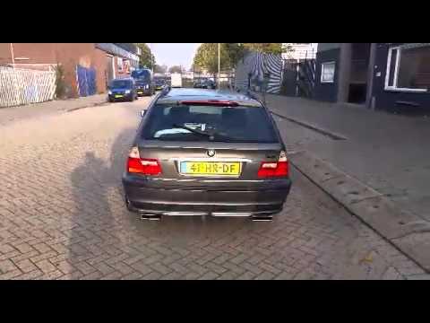 BMW E46 318i RVS sportuitlaat op maat by KCEsportuitlaat