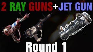 Dual Ray Guns in TranZit on Round 1 Tutorial - Black Ops 2 Zombies - Jet Gun Pack-A-Punch Perks
