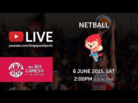 Netball Semi-final Singapore vs Thailand | 28th SEA Games Singapore 2015