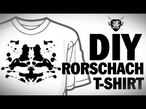 DIY Rorschach T-Shirt Threadbanger