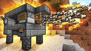 Flaming Arrow Machine Gun! - Minecraft Tutorial (FAST & EASY!)