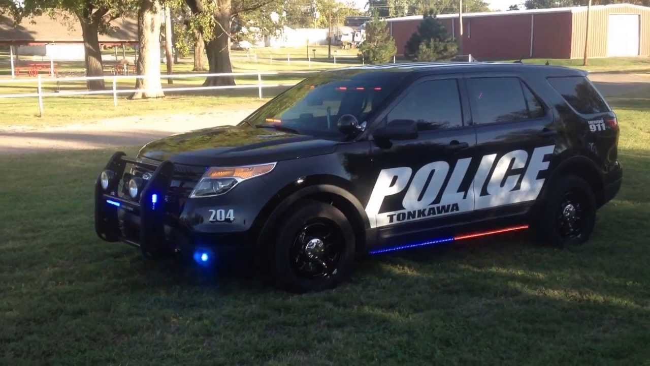 Tonkawa Police 2014 Ford Interceptor Utility Feniex Lighting - YouTube