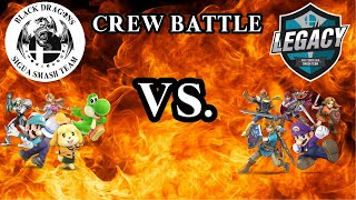 Super Smash Bros Ultimate Crew Battle// Black Dragons Team VS. Legacy Smash Team //