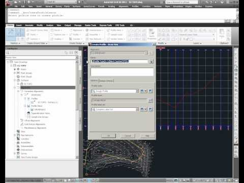 Civil 3D Profile Creation