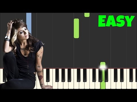 Jar of Hearts - Christina Perri [Easy Piano Tutorial] (Synthesia/Sheet Music)