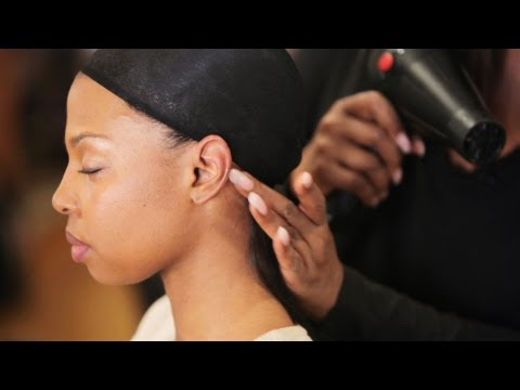 Quick Weave Tutorial: How to Glue in Hair Tracks | Black Hairstyles