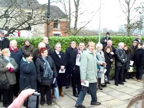 Funeral of Nat Lofthouse Bolton Wanderers England 24 January 2011