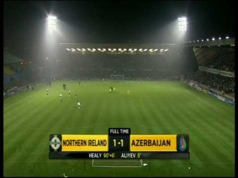 Northern Ireland 1-1 Azerbaijan - David Healy's goal
