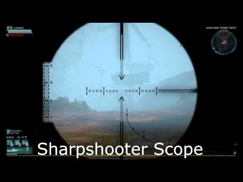 Defiance Weapon Scopes: Sniper Rifles