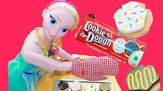 Disney Giant My Size Elsa Melissa & Doug Slice and Bake Cookie Set Toy Review Video Frosting Candy