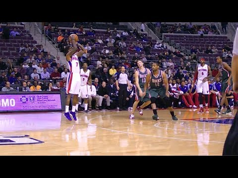 Brandon Jennings Full Highlights vs Bucks (2013.11.25) - 15 Points, 13 Assists