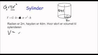 Volumet av en sylinder