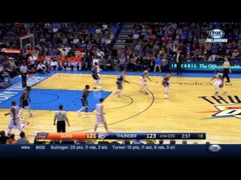 Oklahoma City Thunder give up 10 point swing, ignore Kevin Durant twice vs. Phoenix Suns