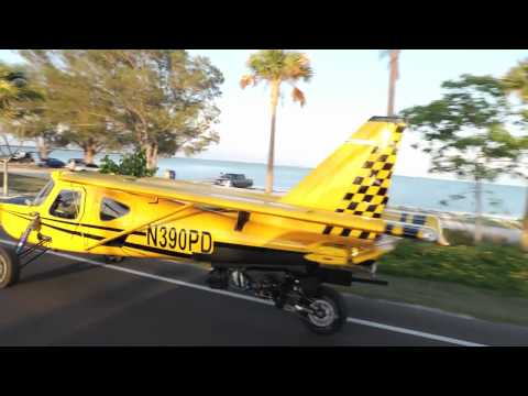 Plane Driven PD2, roadable aircraft driving on the road in the real world.