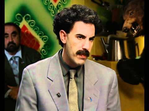Borat (Sacha Baron Cohen) interview part 3