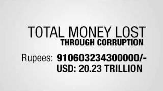 20.23 Trillion USD Lost Through Corruption in India - Still Counting
