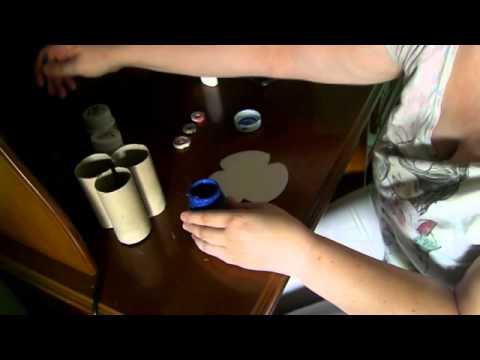Porta lápices con cartones de papel higienico
