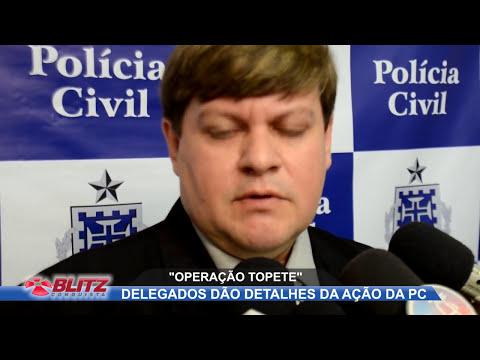 EM COLETIVA DELEGADOS DÃO DETALHES DA OPERAÇÃO QUE RESULTOU NA MORTE DE LEO TOPETE