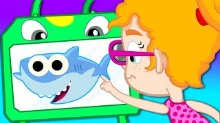 Baby Shark Song with your magic friend Groovy The Martian - Nursery Rhymes Compilation for children