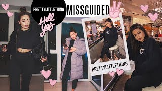 HUGE PRETTY LITTLE THING & MISSGUIDED Try On Haul (20+ items) · ft. Hidden Fashion   Emily Philpott