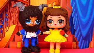 Toys for Kids L.O.L. Surprise Dolls Turn Into Beauty and the Beast! DIY & We Complete Series 1