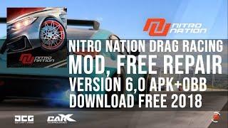 Nitro Nation Drag Racing (MOD, Free Repair) v6.0 2018