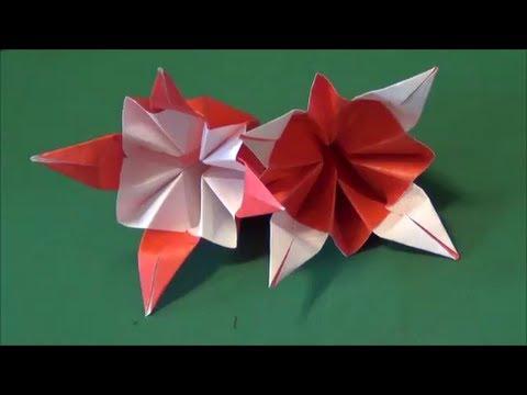 折り紙の折り方 椿の花no3 つば ...