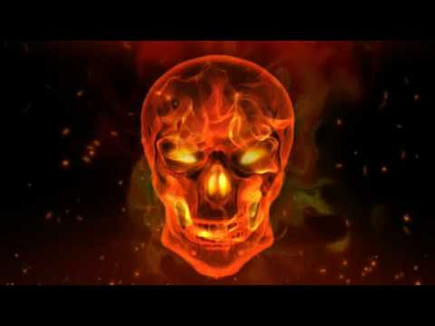 After Effects - Flaming Skull Video