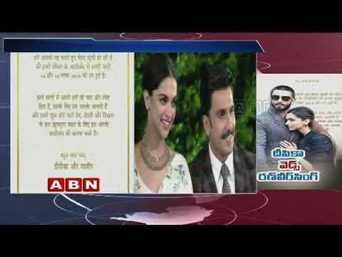 Deepika Padukone, Ranveer Singh announce wedding date | ABN Telugu