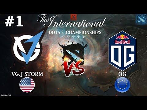 РЕЗОЛЬ против БЫВШЕЙ команды! | VGJ.Storm vs OG #1 (BO3) | The International 2018