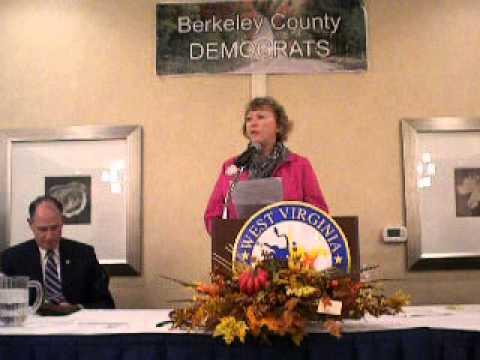 Moving tribute to Senator Jay Rockefeller on October 25, 2013 in Martinsburg, WV