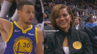 Stephen Curry Impresses His Mom & Dad! Warriors vs Hawks