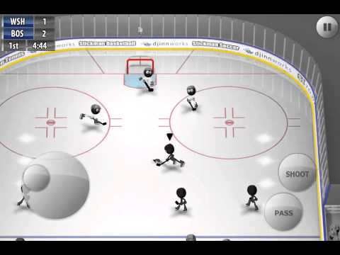 [Stickman Ice Hockey] The incredible post'n in goal