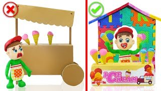 SUPERHERO BABY BUILD ABC ICE CREAM PARLOR 💖 Animation Cartoons Play Doh