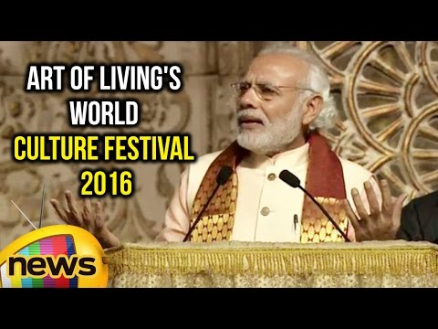 PM Modi Full Speech at Art of Living's World Culture Festival 2016 | Mango News