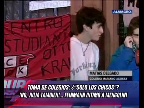 DURO DE DOMAR - TOMA DE COLEGIOS FEINMANN INTIMO A MENGOLINI 27-09-12