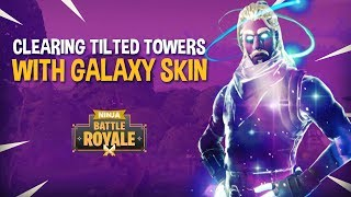Clearing Tilted Towers Featuring GALAXY SKIN!! - Fortnite Battle Royale Gameplay - Ninja & Wildcat