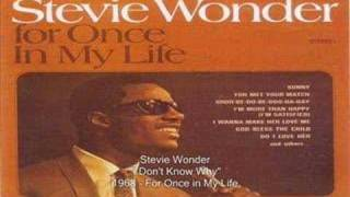 Watch Stevie Wonder I Dont Know Why video