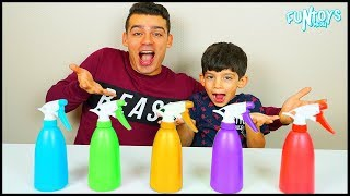 Learn Colors with Sprays for Children, Funny Kids Video