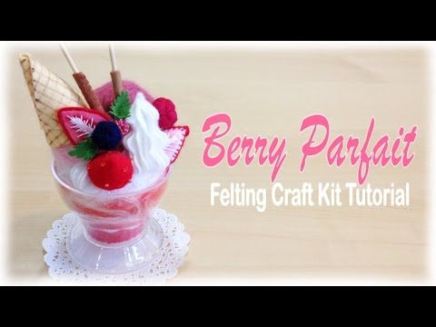 Strawberry Parfait Sundae - Japanese Felt Crafting Kit Tutorial