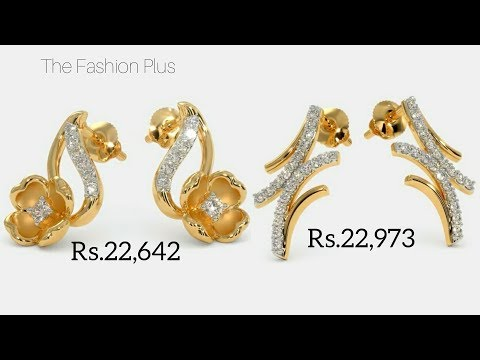 Latest Diamond Ear-Studs Designs with Price