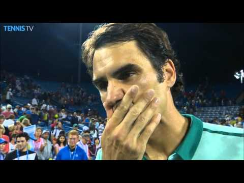 Interview with Roger Federer after semi final Cincinnati 2014