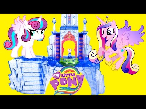 My Little Pony Explore Equestria Crystal Empire Castle Playset with Baby Flurry Heart MLP Toys