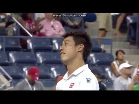 【錦織圭】2014全米オープン 準々決勝 VS スタニスラス・ワウリンカ 3-6、7-5、7-6(9-7)、6-7(5-7)、6-4のキャプチャー