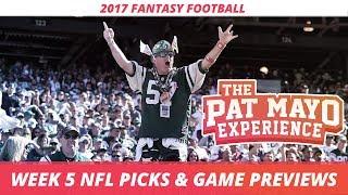 2017 Fantasy Football - Week 5 NFL Picks, Game Previews, Survivor Selections + Cust Corner Mini
