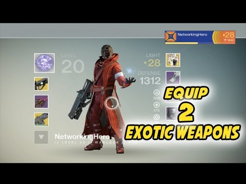 Destiny how to equip 2 exotic weapons youtube